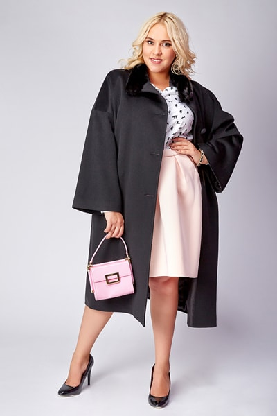 Женские пальто больших размеров оптом