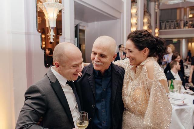 Евгений Стычкин и Оксана Сутулова с гостем