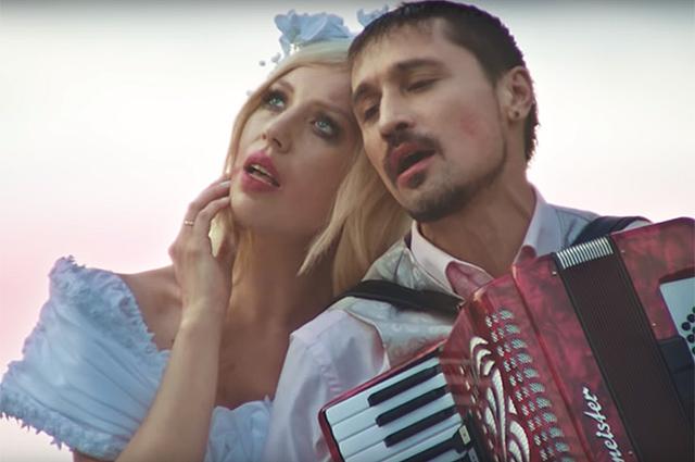 """Polina и Дима Билан в клипе """"Пьяная любовь"""""""