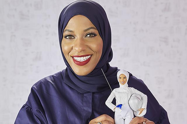 Первая в истории кукла Барби в хиджабе сделана по образу американской фехтовальщицы
