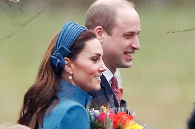 Кейт Миддлтон, принц Уильям и королева Елизавета II посетили церковную службу в Норфолке