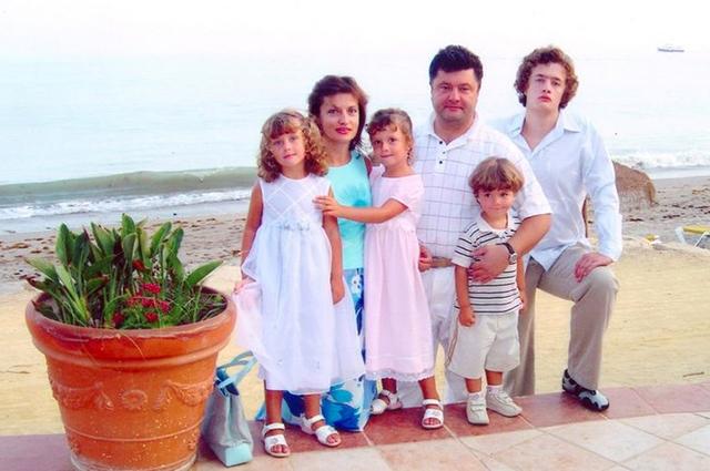 Петр и Марина Порошенко с детьми