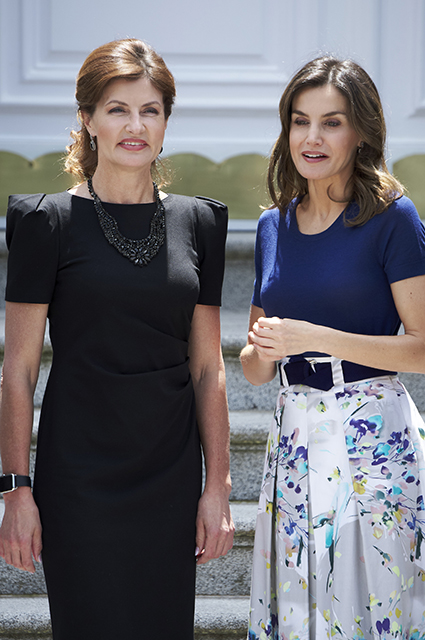 Марина Порошенко и королева Испании Летиция