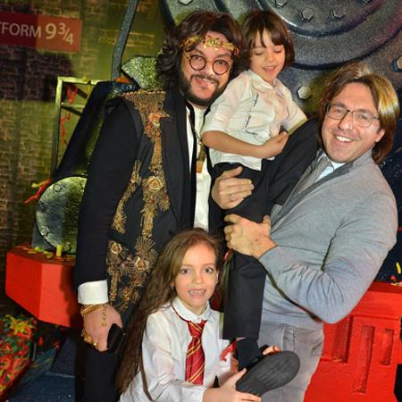 Филипп Киркоров и Андрей Малахов с детьми