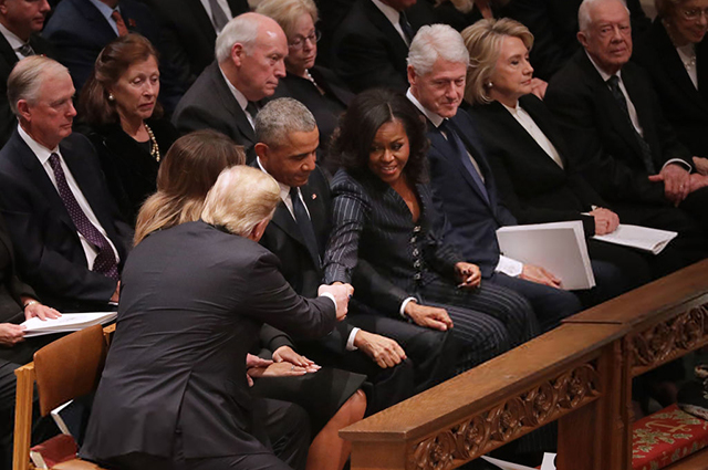 Дональд И Мелания Трамп, Барак и Мишель Обама, Билл и Хиллари Клинтон