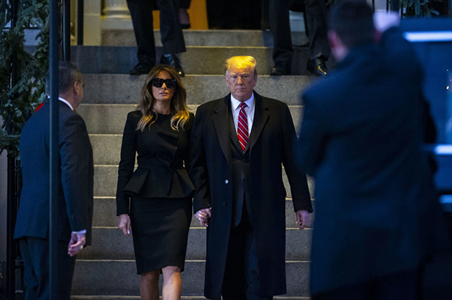 Мелания и Дональд Трамп встретились с Джорджем и Лорой Буш в Вашингтоне