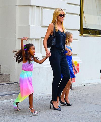 Хайди Клум с дочерьми
