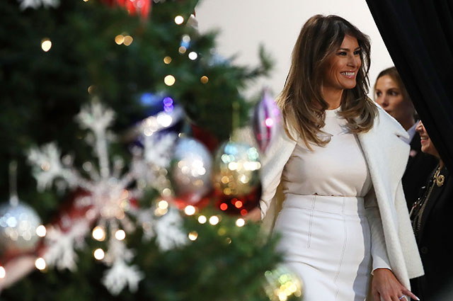 Мелания Трамп начала готовиться к Рождеству