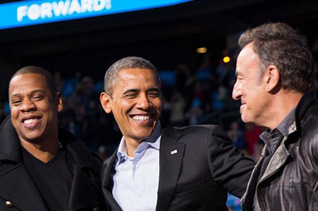 Джей-Зи, Барак Обама и Брюс Спрингстин