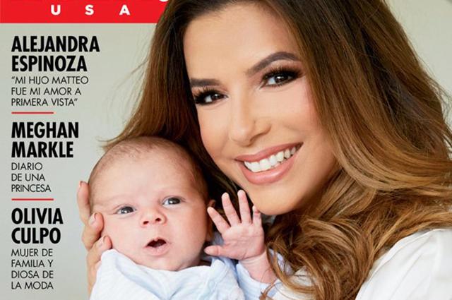 Ева Лонгория впервые показала сына на обложке журнала HOLA!