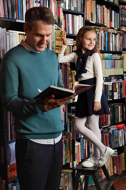 Михаил Земцов с дочерью Клавдией