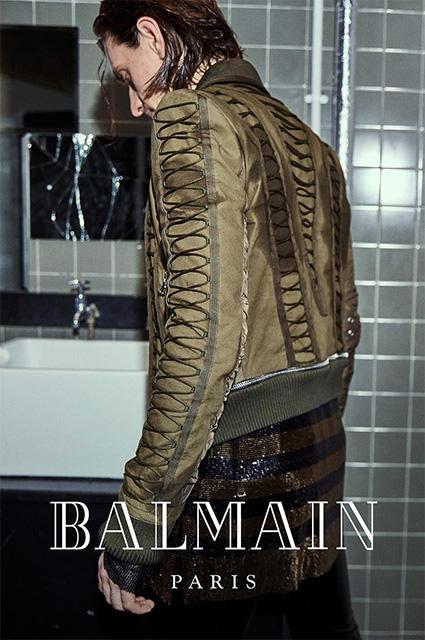 Сергей Полунин в рекламе Balmain