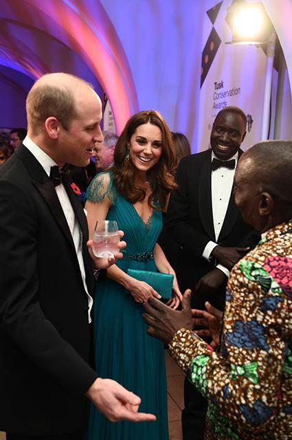 Принц Уильям и Кейт Миддлтон с гостями гала-вечера