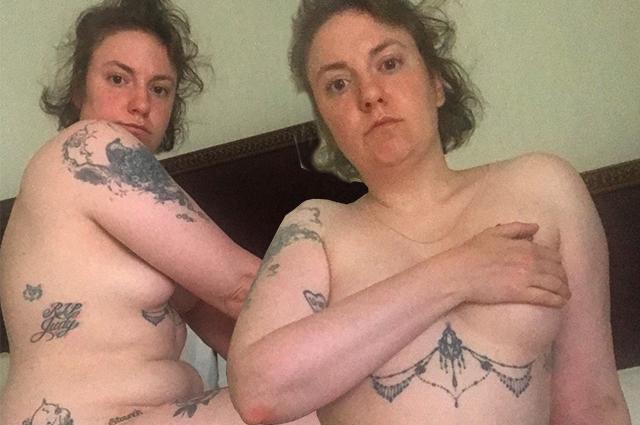 Лена Данэм отметила 9 месяцев со дня удаления матки серией фото в обнаженном виде