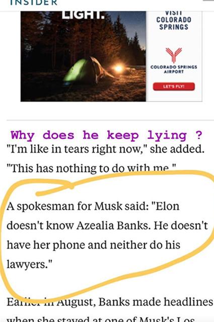 Наркотики, шантаж и украденный телефон: Азилия Бэнкс обвинила Илона Маска во лжи