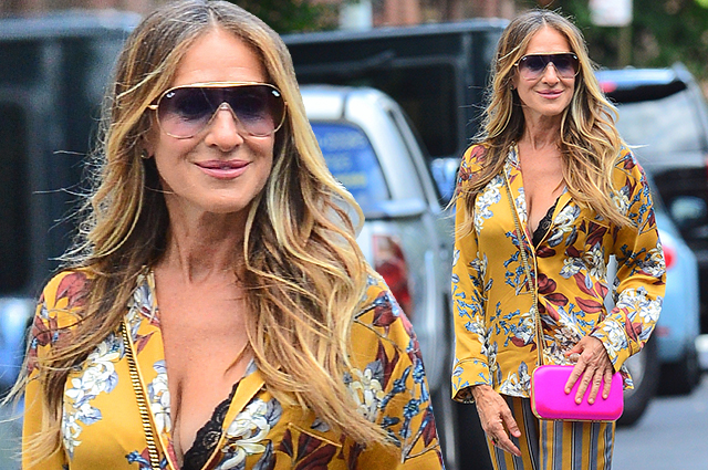 Кэрри Брэдшоу вернулась: Сара Джессика Паркер в пижаме и на шпильках на улицах Нью-Йорка