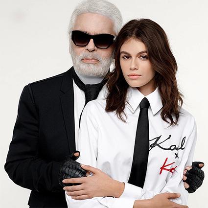 Карл Лагерфельд и Кайя Гербер