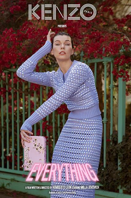 Милла Йовович снялась в новой рекламной кампании и короткометражном фильме Kenzo