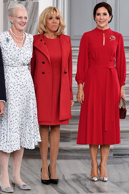 Королева Маргрете, Брижит Макрон и кронпринцесса Мэри