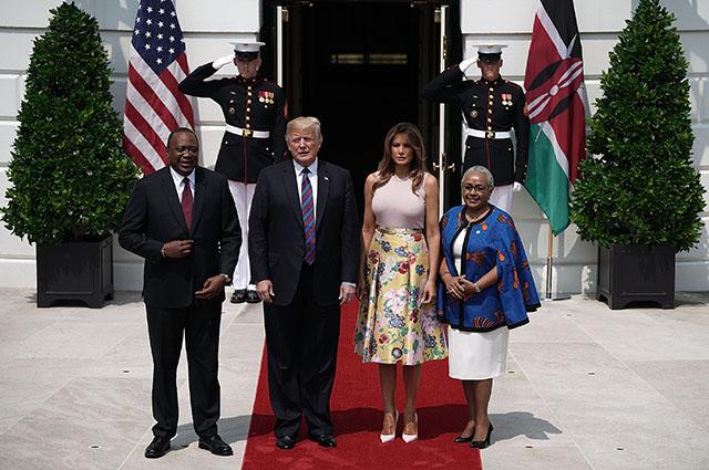 Ухуру Кениата, Доналд и Мелания Трамп, Маргарет Кениата
