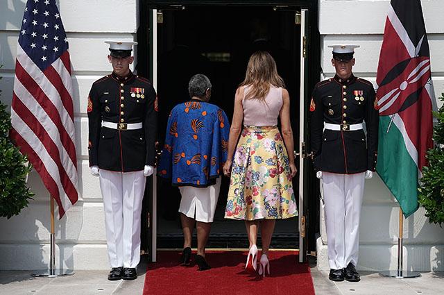Маргарет Кениата и Мелания Трамп