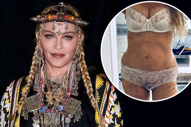 Мадонна опубликовала странное фото в нижнем белье