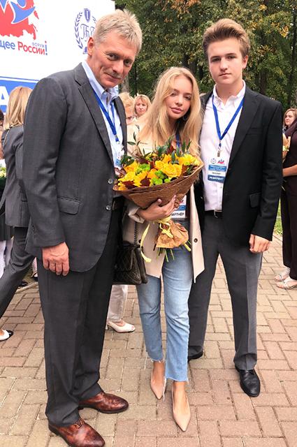 Дмитрий, Лиза и Мик Песковы