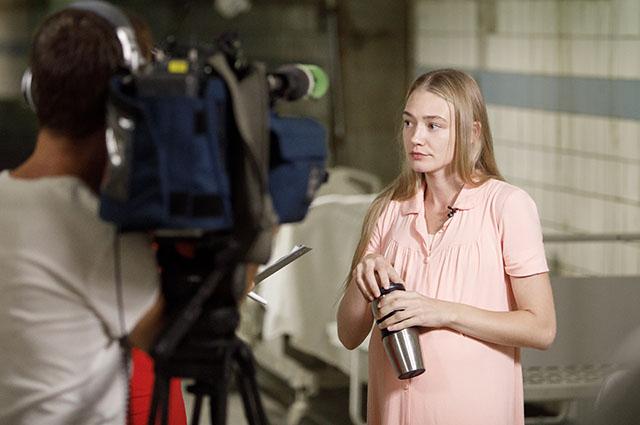 Оксана Акиньшина на съемках фильма