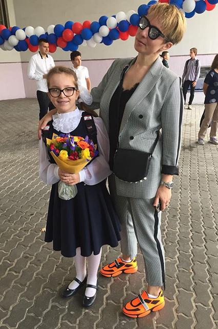 Яна Чурикова с дочерью