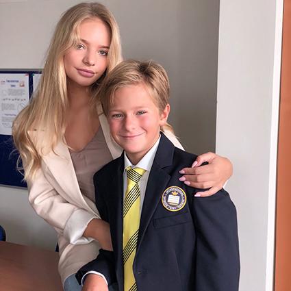 Лиза Пескова с братом Дени