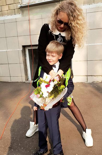 Маша Малиновская с сыном Мироном
