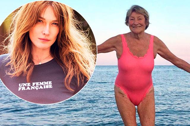 88-летняя мама Карлы Бруни позирует в ярком купальнике и собирает комплименты