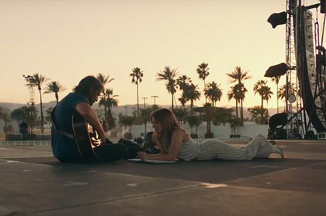 """Брэдли Купер и Леди Гага в кадре из фильма """"Звезда родилась"""""""