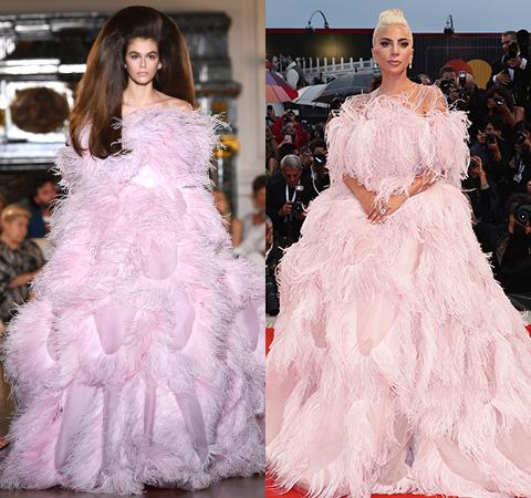 Битва платьев: Кайя Гербер против Леди Гага
