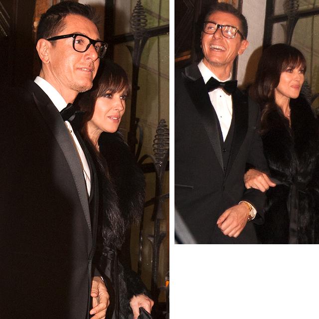 Стефано Габбана и Моника Беллуччи. Гала-ужин Dolce&Gabbana, 2011 год