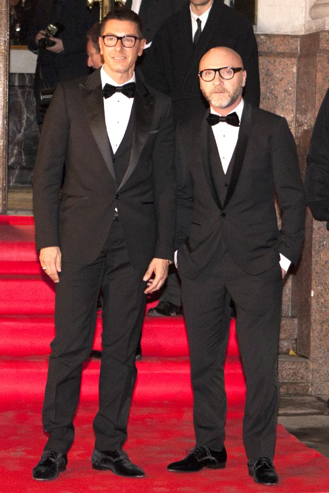 Стефано Габбана и Доменико Дольче. Гала-ужин Dolce&Gabbana, 2011 год