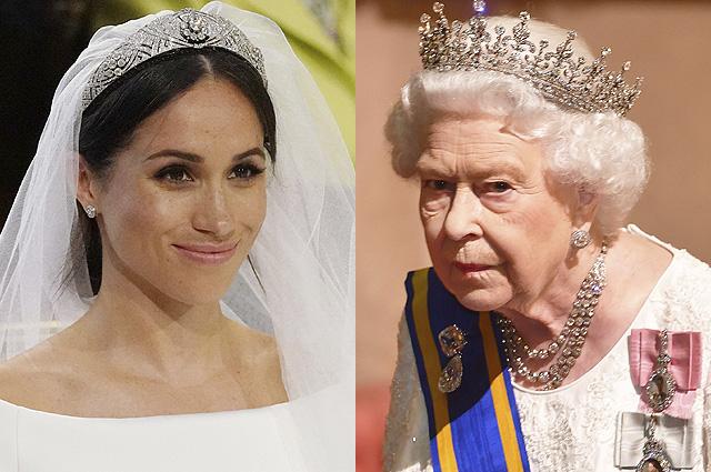 СМИ рассказали о конфликте Меган Маркл и королевы Елизаветы II из-за свадебной тиары
