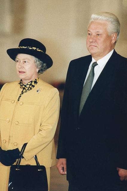 Королева Елизавета II и Борис Ельцин, 1994 год