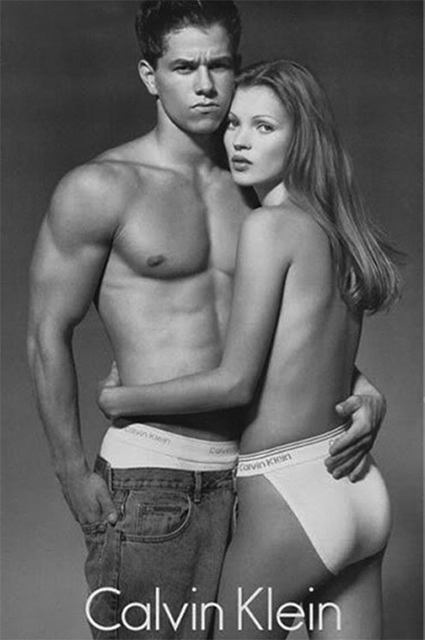 Кейт Мосс и Марк Уолберг в кампании Calvin Klein