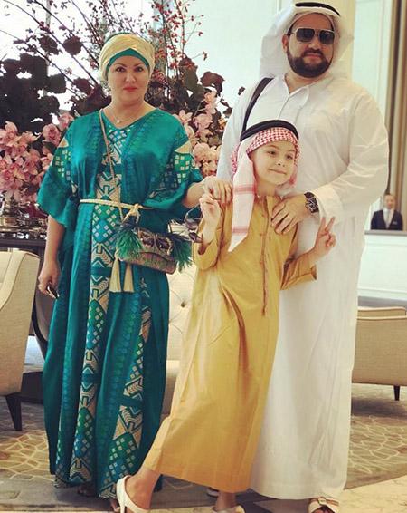 Юсиф Эйвазов и Анна Нетребко с сыном Тьяго в ОАЭ