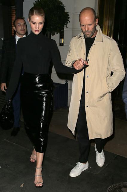 Стильные и влюбленные: Рози Хантингтон-Уайтли и Джейсон Стэтхем на свидании в Лондоне