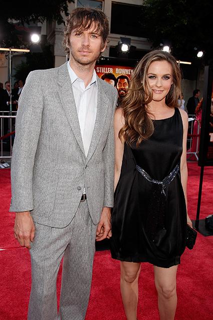 Алисия Сильверстоун с бывшим супругом Кристофером Джареки