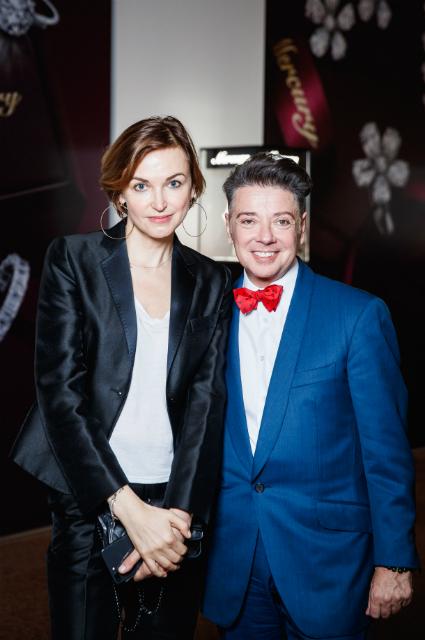 Карина Добротворская и Валентин Юдашкин