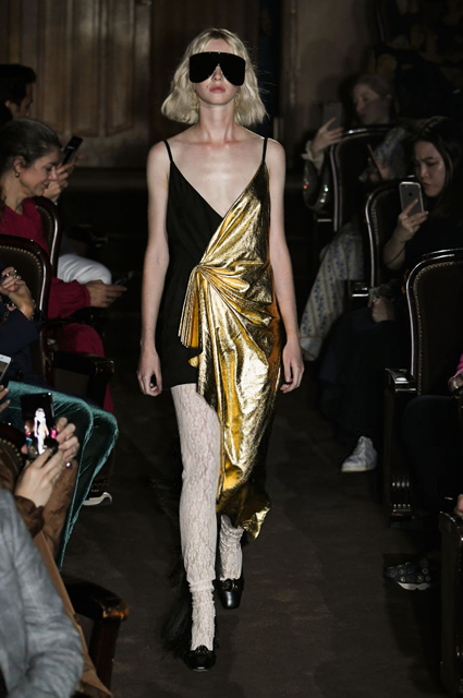 Неделя моды в Париже: Сальма Хайек, Джейн Биркин, Фэй Данауэй и Джаред Лето на показе Gucci