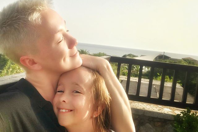Дарья Мороз с дочерью Аней