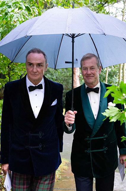 Джеймс Койл и Ивар Маунтбаттен на собственной свадьбе
