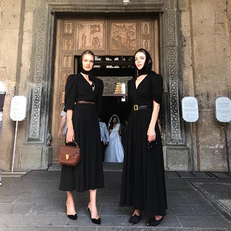 Наталья Водянова и Ульяна Сергеенко