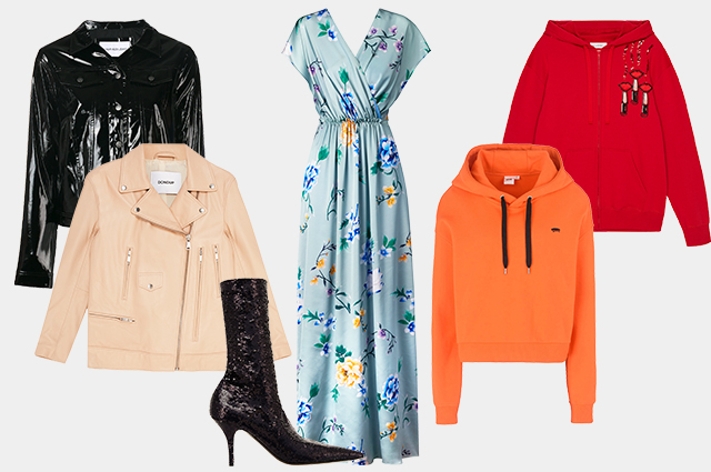 Куртка Calvin Klein, куртка Dondup, сапоги Balenciaga, платье Mango, худи Yoox, худи Valentino