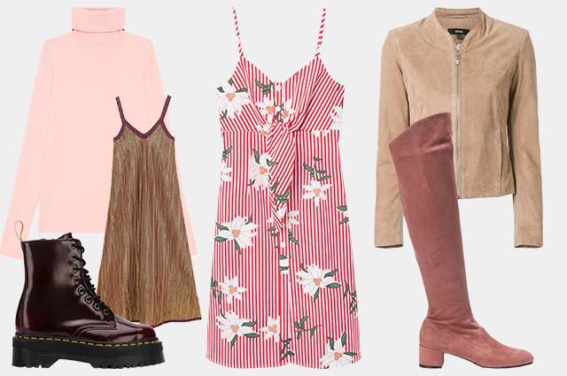 Водолазка Yuzhe Studios, платье Zara, ботинки Dr. Martens, платье Mango, куртка Arma, сапоги L'Autre Chose
