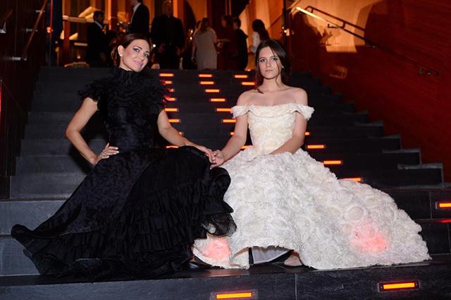 Екатерина Климова с дочерью Лизой на приеме в Барвиха Luxury Villagе